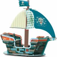 3D kartonová skládačka - Pirátská loď