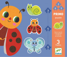 Prvé puzzle – Na záhrade – 3, 4, 5 ks