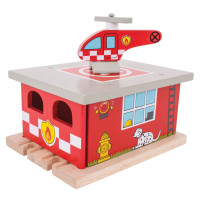 Bigjigs - Depo hasičská stanice
