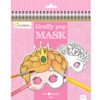 Karnevalové masky k vymalování pro holky