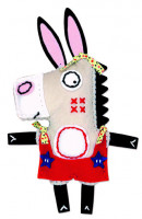 Dětské šití - oslík Ernest