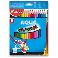 Akvarelové pastelky Maped - 18 barev + štětec