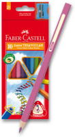 Pastelky Faber-Castel Junior Triangular - 10 barev + ořezávátko