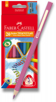 Pastelky Faber-Castel Junior Triangular - 20 barev + ořezávátko