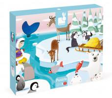 Puzzle hmatové - život na ledové kře - 20 ks