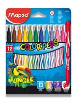 Detské fixky Maped Color´ Peps Jungle- 12 farieb