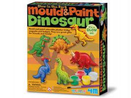 Sádrové odlitky - Svítící dinosaurus